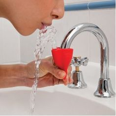 Dreamfarm Tapi Fountain Rubber Tap - Create a fun and convenient drink fountain from your tap by simply squeezing