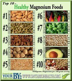 top 10 foods containing magnesium