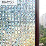 Rabbitgoo® 3D Fensterfolie Dekorfolie Sichtschutzfolie