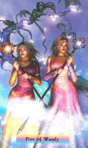 Rainbow Travelors Tarot Five of Wands_NEW