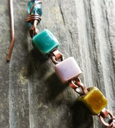 Art Jewelry Elements: Rolo-Chain-Style Links for Larger Holed Beads diy