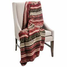 Amazon.com   Woolrich Cedar Run Throw Blanket   Berber   STRIPE GEOMETRIC