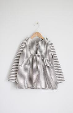 Gorgeous ticking stripe top from Sanae Ishida.