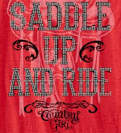 Red - Country Girl ® Saddle Up Burnout Tee