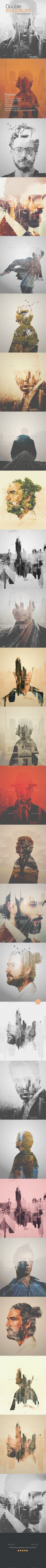 Double Exposure Photoshop template (Follow us www.pinterest.com/dantaque)