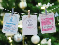 25 Days of Christmas Tags - Day 21 Holiday Day, 25 Days Of Christmas, Christmas Tag, Christmas Ornaments, Holiday Decor, Cool Cards, Clear Stamps, Cardmaking, Greeting Cards