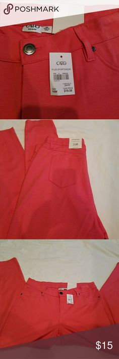 Cato Coral Jeggings Brand new ladies plus size jeggings from Cato with convenient back pockets. Cato Pants Skinny
