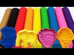 Learn Colors Play Doh Ball Eggplant Ice Cream Dress Molds Surprise Toys Splashlings Mermaids Disney - YouTube