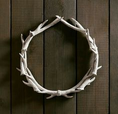Antler wreath. Do this with the fake antlers!