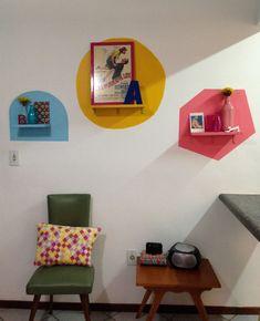 Nichos de Cor na parede. Colourful walls.