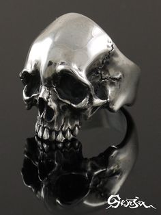 Scull ring Senju(/ silver accessories / シルバーアクセ / silver / silver 925/Silver925/ silver / 1,000 moves / Kannon-with-One-Thousand-Arms / ring / ring / men / unisex / scull / skeleton / skeleton / vegetables with dressing // Senju)