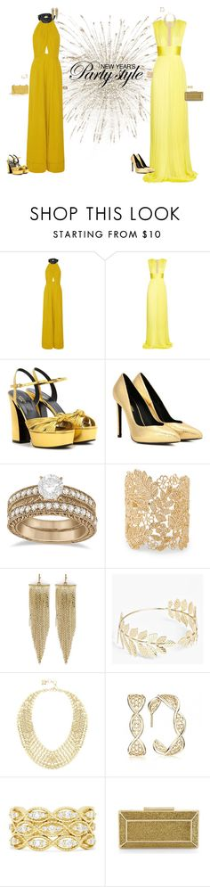 """""""new year"""" by giccah ❤ liked on Polyvore featuring Roberto Cavalli, Maria Lucia Hohan, Gucci, Yves Saint Laurent, Allurez, Sole Society, Kenneth Jay Lane, Boohoo, BCBGMAXAZRIA and Birks"""