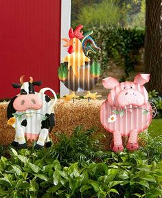 Introduce your garden to a charming new character with the Colorful Corrugated Metal Animal Stake. It features a corrugated metal design with bright colors. The