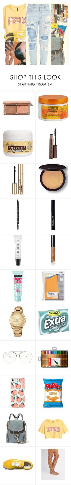"""""""COLOR : YELLOW"""" by w-on-der-lan-d ❤ liked on Polyvore featuring Charlotte Tilbury, Cantu, Out of Africa, Laura Mercier, Smith & Cult, Anastasia Beverly Hills, Bobbi Brown Cosmetics, Maybelline, Mead and MICHAEL Michael Kors"""