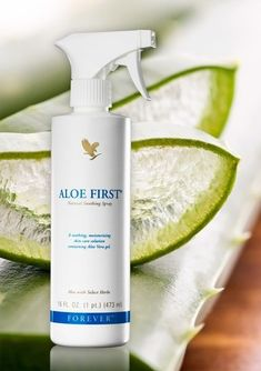 Aloe First is a great addition to the first aid kit. Find out why Forever First is the best choice when it comes to damage to your skin! Forever Aloe, My Forever, Cellulite, Forever Living Business, Bee Propolis, Spray Moisturizer, After Sun, Jojoba, Forever Living Products