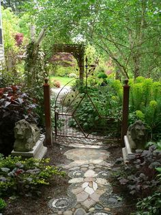 Very delicate garden gate