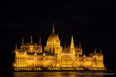 Hungarian Parliament Building at night- Budapest