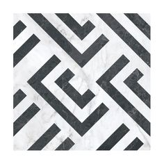 Luka features a luxurious white marble background, with a repeating half rectangle pattern in black for maximum contrast. The tile has a mix. Black Hallway, Tiled Hallway, Modern Bathroom Tile, Art Deco Bathroom, Art Deco Tiles, Tile Art, Marble Art, White Marble, Black And White Flooring