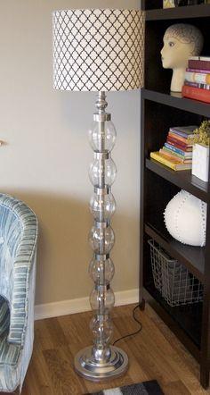 Regular lamp turned into glam lamp out of 14 coke bottles!