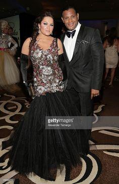 Sonia Sosa and Sammy Sosa attend the Blacks' Annual Gala at Fontainebleau Miami Beach on April 13, 2013 in Miami Beach, Florida.