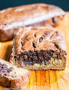 Gluten-Free Banana Chocolate Peanut Butter Bread - a healthy and delicious breakfast bread or snack