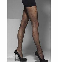 ADULT BLACK SWIRLS TIGHTS HOSIERY HALLOWEEN COSTUME ACCESSORY GLHA9036P