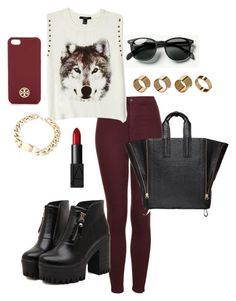 """""""Wolf♥"""" by valentina-de-la-serna ❤ liked on Polyvore featuring Waverly, Warehouse, NARS Cosmetics, Topshop, Dr. Martens, 3.1 Phillip Lim, Forever 21 and Tory Burch"""