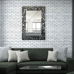 """Artistic Products Breeze Point Wall Mirror Size: 24"""" H x 16"""" W x 0.19"""" D"""