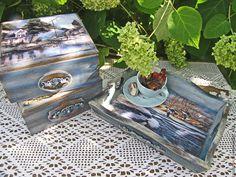 """Купить набор """"Деревенская идилия"""" - синий, набор, для дома и интерьера, для интерьера, для кухни, для дома, кухня"""