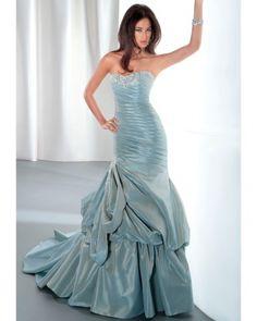 Demetrius -  Blue Trumpet Wedding Gown. Trend:  Wear the Rainbow