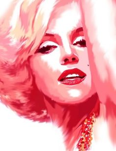 Pink Marilyn Monroe Art