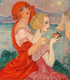 Gerda Wegener. 'Sur la route d'Anacapri (On the Way to Anacapri