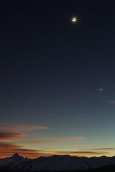 Roberto Bertero,Monviso, Moon and Venus