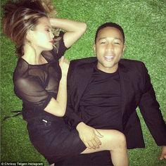 John Legend's wife Chrissy Teigen shows off nipple...