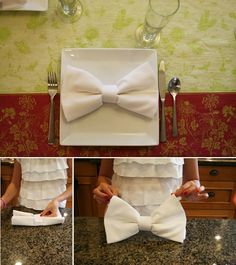 Napkin bows - Easy and creative DIY