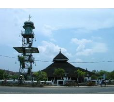 Grand Mosque in Demak - Central Java, built in 1579 by Raden Fatah, a Chinese Muslim who established the first Muslim kingdom in Java.   Just as the Kudus Mosque, traditional Javanese Muslims believed that seven pilgrimages here during Gerebeg Besar (Idul Adha) festival is worth one complete pilgrimage to Mecca.