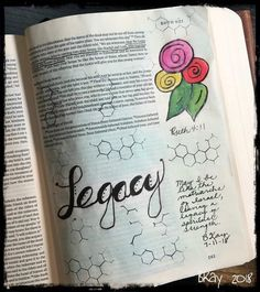 Ruth Legacy of faith. Scripture Art, Bible Art, Ruth 4, Bible Journaling For Beginners, New Bible, Illustrated Faith, Doodles, Ford, Teaching