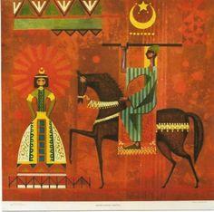 Original-vintage-poster-EGYPT-CAIRO-ART-CALENDAR-SHEETS-5-1963