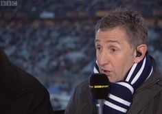 Rugby commentator Jonathan Davies in a Smart Turnout scarf