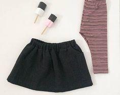 Legging strepen roze/ zwart