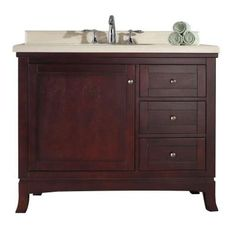 Ove Decors Sophia 42 In W X 21 D Vanity White With Granite Top Black Basin Bed And Breakfast Pinterest