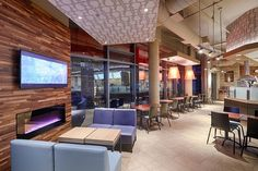 Restaurant Photography of interior entertainment for Tim Hortons in Toronto