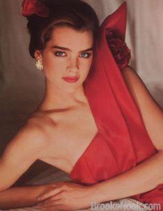 Brooke Shields in Red
