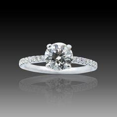 14k or Blanc Certifié 4.00 Ct Jaune Coussin Coupe Diamant Fantaisie Bague de fiançailles