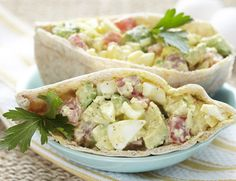 Avocado Egg Salad in Pita Bread