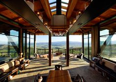 Famed Napa Valley architect, Howard Backen, constructed Ovid Winery's elegantly simple 2,000-square-foot tasting room with exposed beams and floor-to-ceiling glass overlooking Oakville.