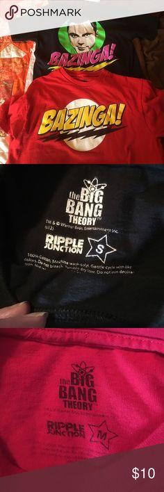 Big Bang Theory Shirts 2 Big Bang Theory Tees $10 for both Tops Tees - Short Sleeve