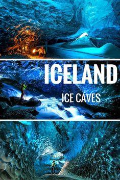 Helen Bjornsdottir, who lives in Reykjavik, Iceland, spends her life in Icelandic ice caves taking these beautiful photos. #adventuretravelwanderlust