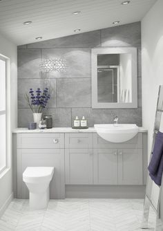 Shaker Pearl Grey has a beautiful timeless style which is met by a light, elegant on-trend finish. Paired with a selection of more traditionally styled accessories, Shaker Pearl Grey creates a stunning bathroom sanctuary. Grey Modern Bathrooms, Modern Bathroom Decor, Bathroom Trends, Contemporary Bathroom Designs, Bathroom Styling, Bathroom Renovations, Small Bathroom, Bathroom Ideas, Bathroom Organization
