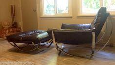 Stendig-Milo-Baughman-Big-Chrome-Lounge-Chair-Ottoman-Black-Vinyl-Mid-Century